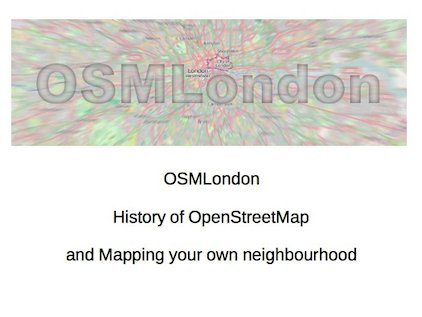 Mapping Your Own Neighbourhood slide1