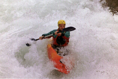 Harry Wood whitewater kayaking on the Middle Cheakamus, British Columbia